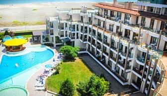 Ранни записвания за почивка на метри от плажа в Приморско - хотел Престиж Сити 2! Нощувка на база Аll inclusive + открит басейн и детски басейн + детски клуб и анимация!!!