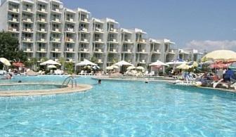 Ранни записвания за почивка на първа линия в  хотел Лагуна Бийч**** Албена! Нощувка на база All inclusive + чадър и шезлонг на плажа и басейна!!!