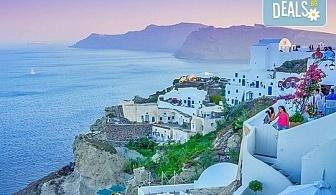 Ранни записвания за Великден на о. Санторини, Гърция! 4 нощувки със закуски, транспорт и водач от Еко Тур!