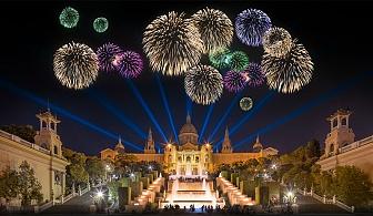 Ранни записвания за звездна Нова Година в Барселона, Испания. Самолетен билет + летищни такси + 4 нощувки със закуски и пълна туристическа програма в хотел Eurohotel Granvia Fira 4*