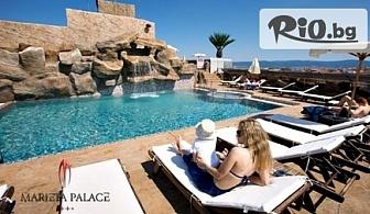 Ранно записване за луксозна почивка в Несебър! Нощувка със закуска + открит басейн с джакузи, шезлонг и чадър, от Хотел Мариета Палас 4*