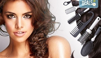 Разкрасете косата си! Масажно измиване, терапия според типа коса, оформяне със сешоар и плитка в Studio V!