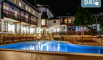 Релаксираща почивка в семеен хотел Алфаризорт 3*, с. Чифлик! 1 или 2 нощувки със закуски и вечери, ползване на външен минерален басейн и релакс зона, безплатно за деца до 6.99г.!