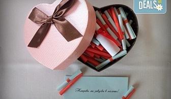 """Романтичен подарък за любимия човек! Вземете луксозен комплект игра за двойки """"52 седмици Любов"""" от Just Love Day!"""