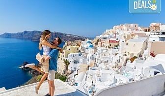 Романтична почивка през лятото на остров Санторини! 4 нощувки със закуски в хотел 3*, транспорт и водач от Данна Холидейз