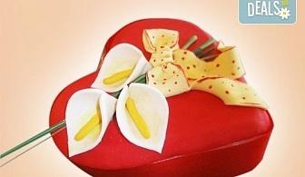 """Романтика за двама! Подарете Торта """"Сърце"""" по дизайн на Сладкарница Джорджо Джани"""
