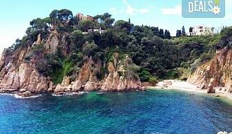 Романтика, слънце и море! Почивка през септември в Коста Брава, Испания - 7 нощувки на пълен пансион, самолетен билет, екскурзия до Барселона и трансфер