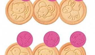 Розов комплект от 6 бр. печати за сладки Tescoma от серия Delicia