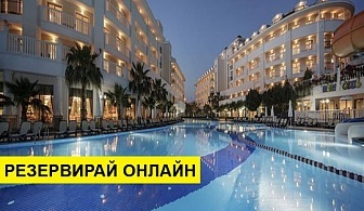 Самолетна почивка в Турция! 7 нощувки на човек на база All inclusive в Alba Queen Hotel 5*, Сиде, Турска ривиера с двупосочен чартърен полет от София