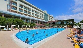 Самолетна почивка в Турция! 7 нощувки на човек на база All inclusive в Telatiye Resort Hotel 5*, Анталия, Турска ривиера с двупосочен чартърен полет от Варна