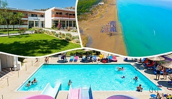 Септемви на 20м. от морето в Калогрия Метохиу! Транспорт + 7 нощувки на база Аll inclusive + басейн, чадъри и шезлонги на плажа и много забавления в Хотел Kalogria Beach