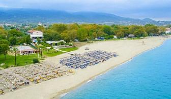 Септември на брега на морето в Олимпийската Ривиера! Нощувка със закуска и вечеря + басейн в хотел Sun Beach Platamon, Пиера, Гърция!