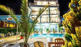 От 1 до 20 Септември нощувка със закуска и вечеря + басейн за 30 лв. в хотел Елири***, Несебър