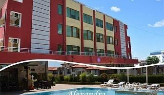 Септември в Свети Влас! Нощувка със закуска и вечеря + басейн в хотел Александра***