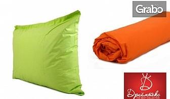 Сет от долен чаршаф с ластик в размер по избор, плюс 1 или 2 калъфки за възглавници, или само калъфки