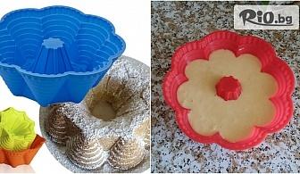 Силиконова форма за печене на кекс Осем кули, от Svito Shop