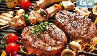 1 кг. скара микс: свинска вратна пържола, пилешка пържола, шишче, суджук и кюфтенца на скара в Ресторант 21 - Лозенец