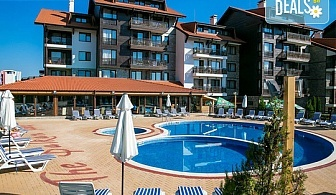 На ски или релакс през март в Балканско Бижу 4*, Банско! 2 нощувки със закуски и комплимент бутилка вино, ползване на вътрешен басейн, сауна, парна баня и джакузи, бзплатно за дете до 5.99 г.
