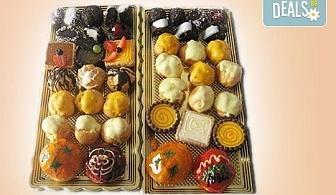 """Сладък """"Микс за ценители""""! Над 40 броя шоколадови изкушения - еклери, пралини и петифури от Сладкарница """"Орхидея"""""""