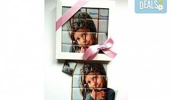 Сладък подарък за любим човек! Персонализирани мини шоколадчета със снимка на клиента - 16, 32 или 48 броя