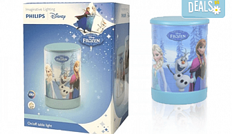 За сладки сънища! Малка преносима LED лампа за деца на Philips с героите от Frozen!