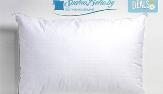 Сладки сънища! Възглавница с 500 г силиконов пух, българско производство от Спално бельо БГ и безплатна доставка за София!