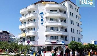 Слънчева лятна почивка с цялото семейство в Алба Фемили Клуб 2* в Приморско! Нощувка със закуска и вечеря, ползване на басейн, чадър и шезлонг, безплатно за дете до 6г.