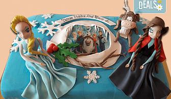 Смърфове, Миньони и Мечо Пух! Голяма детска 3D торта 37 ПАРЧЕТА с фигурална ръчно изработена декорация от Сладкарница Джорджо Джани