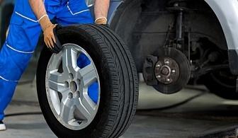 Смяна на 2 бр. гуми + монтаж, демонтаж, баланс и тежести в автоцентър BGreen, кв. Манастирски ливади
