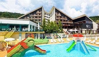 СПА почивка във Велинград! Нощувка със закуска, обяд и вечеря + МИНЕРАЛЕН басейн и детски аквапарк само за 55 лв. в СПА хотел Селект 4*