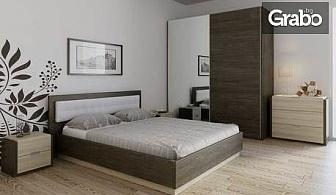 """Спално обзавеждане """"Берта""""с легло, гардероб, 2 нощни шкафчета и възможност за скрин"""