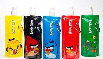Супер практично и забавно еко шише Vapur Bottle с Angry birds от онлайн магазин Grabko.bg