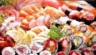 Суши сет Оушън със 58 хапки (1160гр) - за 27.80лв. от CLUB GRAMOPHONE - SUSHI ZONE
