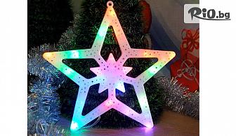 Светеща коледна звезда с преливащи LED свeтлини - украса за стена, от Svito Shop
