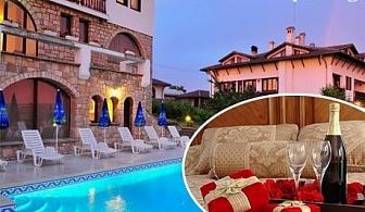 Свети Валентин в Арбанаси! 2 или 3 нощувки на човек със закуски + Романтична вечеря с DJ + 2 басейна и релакс зона от хотел Винпалас