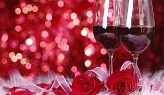 Свети Валентин за ДВАМА - една нощувка със закуска и празнична вечеря, бутилка вино + СПА пакет в хотел Белчин Гардън****
