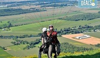 Тандемен полет с двуместен парапланер на 5 км от София + заснемане с HD GoPro action камера от Extreme sport!