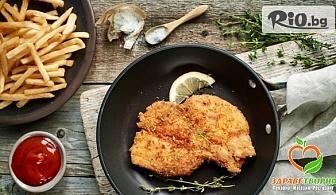 1 кг. телешко плато за двама с картофки и сос барбекю, от Център Здраветворно