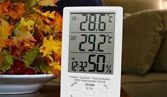 2 температури, влагомер и часовник