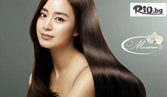 Терапия 3 в 1 за цялостно възстановяване на коса и скалп + Д'арсонвализация и ламиниране на косата, от Салон за красота Мелани - Център