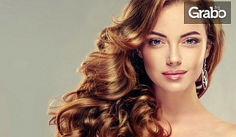 Терапия за коса с UV преса, плюс оформяне със сешоар или преса