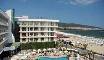 ТОП хотел първа линия в Слънчев Бряг, All Inclusive с Аквапарк до 02.07 в Клуб хотел Еврика