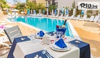 ТОП сезон в Созопол! Нощувка с изхранване по избор + басейн, чадър и шезлонг, от Хотел Флагман 3*