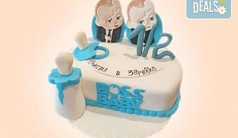 Торта за бебе! Детска фигурална торта 1/2 за бебоци на шест месеца от Сладкарница Джорджо Джани