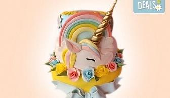 Торта за принцеси! Торти за момичета с 3D дизайн с еднорог или друг приказен герой от сладкарница Джорджо Джани