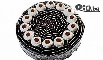 Торта Шоколешник с ухаещи блатове с орехи, сметана, два вида шоколад и лешници /8 или 12 парчета/, от Торти ЕФИ