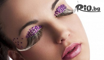 Удължаване и сгъстяване на мигли чрез поставяне на снопчета от коприна или косъм по косъм от Норка, от Студио за красота Diamond House