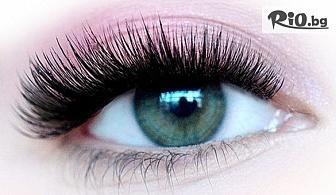 """Удължаване и сгъстяване на мигли по метода """"косъм по косъм"""", от Beauty center Dandamp;M"""