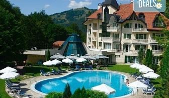 Уикенд почивка през есента в хотел Евъргрийн Палас 3*, с. Рибарица! 1 нощувка със закуска и вечеря, ползване на сауна и джакузи, безплатно за дете до 6г.!