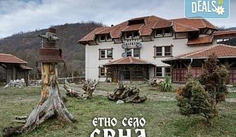 Уикенд през март в Етно село Срна, Сърбия! 1 нощувка със закуска, вечеря с жива музика и напитки, транспорт и посещение на Темския манастир